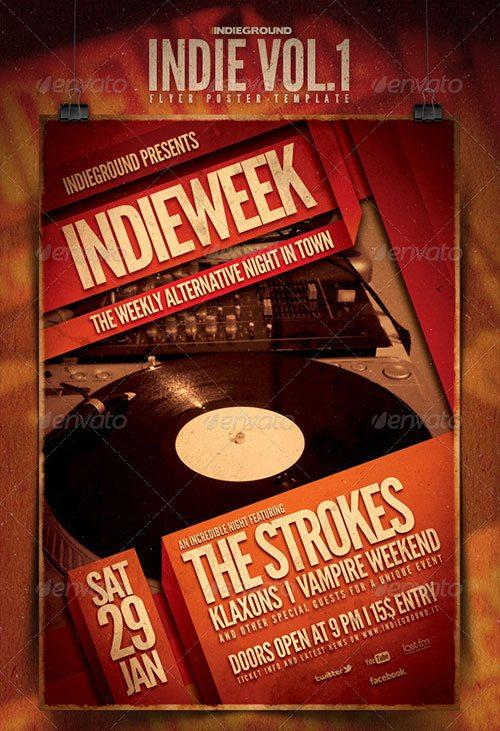 indie rock flyer hard rock template poster free club party psd flyer templates - free premium psd flyer templates to download