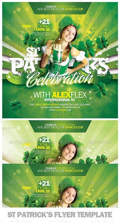 St Patricks Day Flyer PSD Template - photoshop party club flyer templates