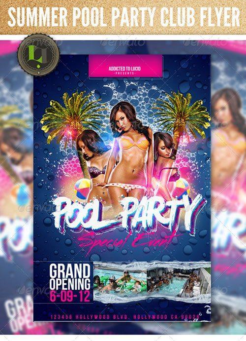 Foam Party Flyer Free Club Party Psd Flyer Templates   Free Premium Psd Flyer  Templates To