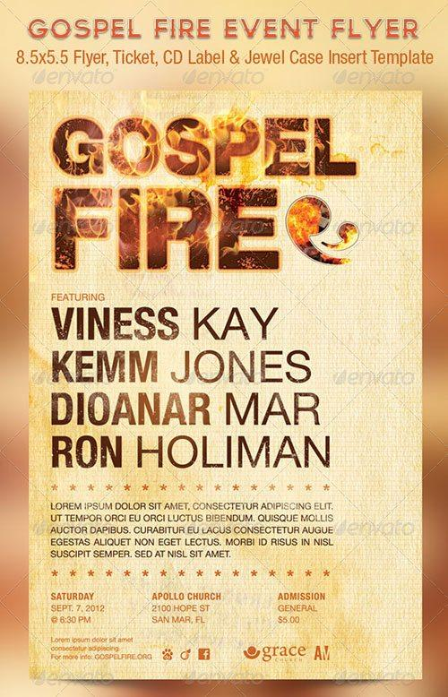 fire flyer poster template free club party psd flyer templates - free