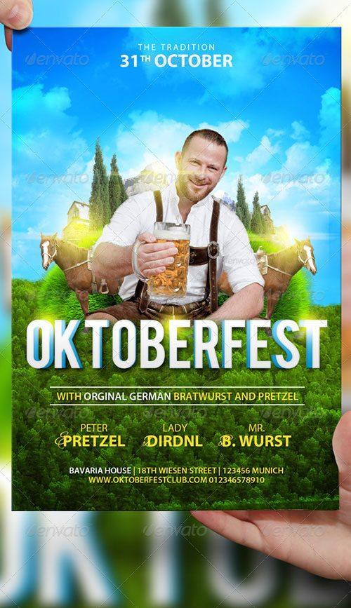 october fest oktoberfest promotion beer fest flyer poster template free club party psd flyer templates - free premium psd flyer templates to download