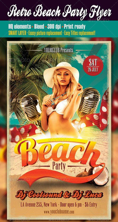 beach party tropical summer pool flyer poster template free club party psd flyer templates - free premium psd flyer templates to download