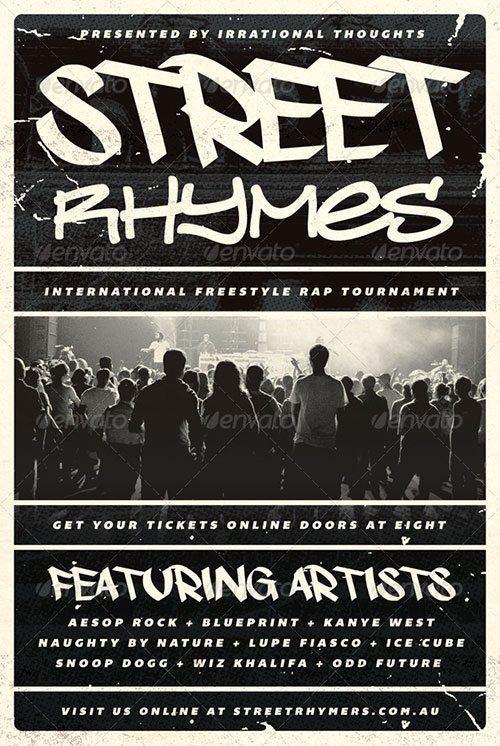 top 10 best hip hop psd flyer templates