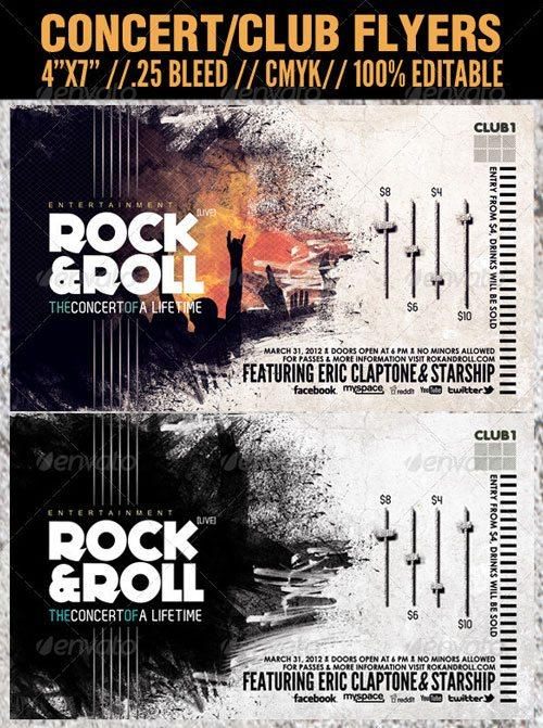 Top 10 Best Hard Rock PSD Flyer Templates - Download for Photoshop