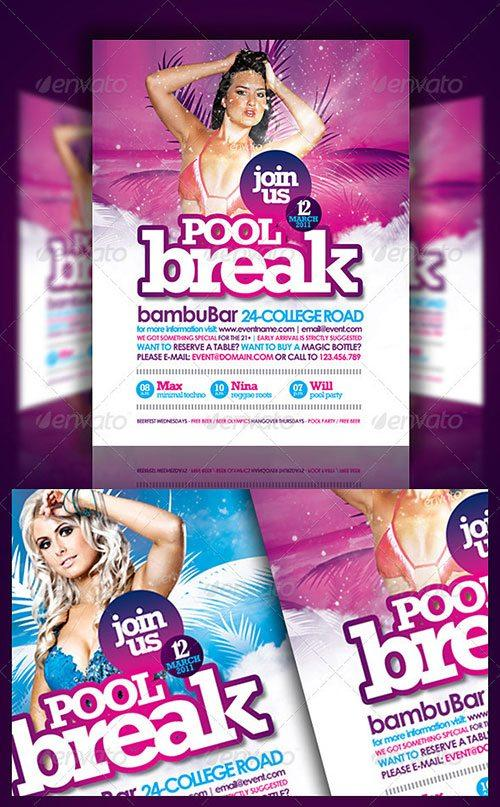 spring break club party psd flyer templates - free premium psd flyer templates to download