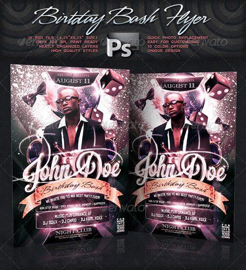 birthday party birthday bash celebration flyer poster template free club party psd flyer templates - free premium psd flyer templates to download