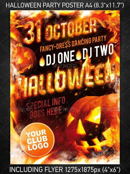 halloween party flyer templates officecom party
