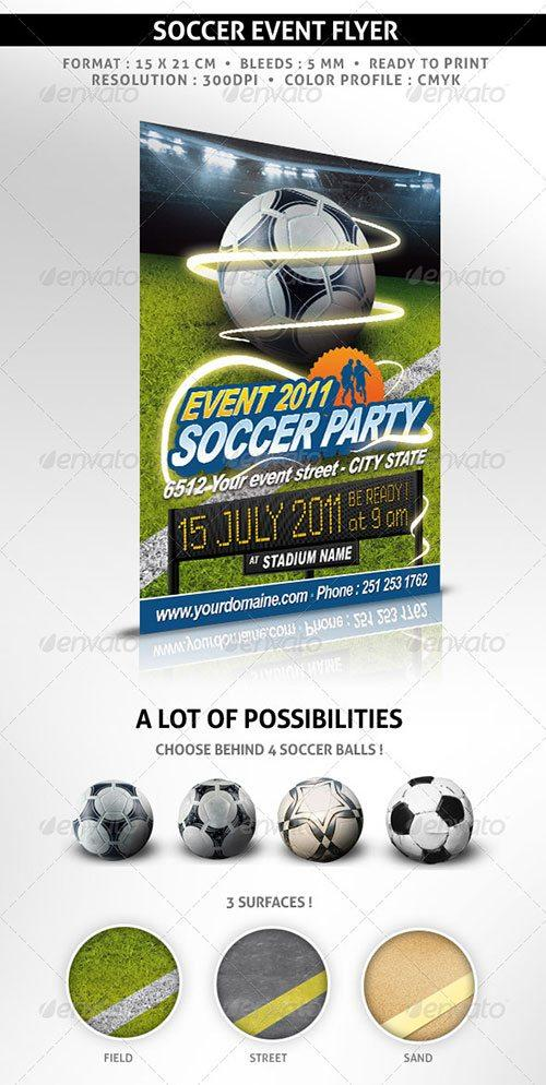 sport euro soccer fussball flyer poster template free club party psd flyer templates - free premium psd flyer templates to download