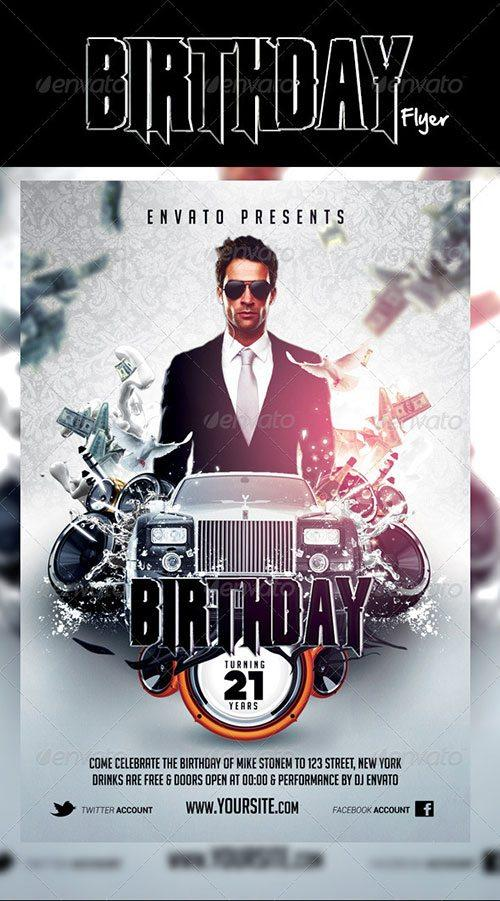 Perfect Birthday Party Birthday Bash Celebration Flyer Poster Template Free Club  Party Psd Flyer Templates   Free