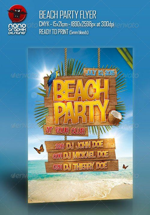 summer club party psd flyer templates - free premium psd flyer templates to download