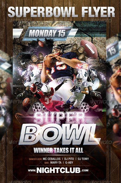 sport american football superbowl flyer poster template free club party psd flyer templates - free premium psd flyer templates to download