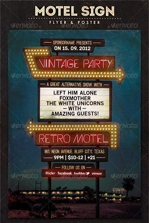 Top 10 Best Vintage Retro PSD Flyer Templates