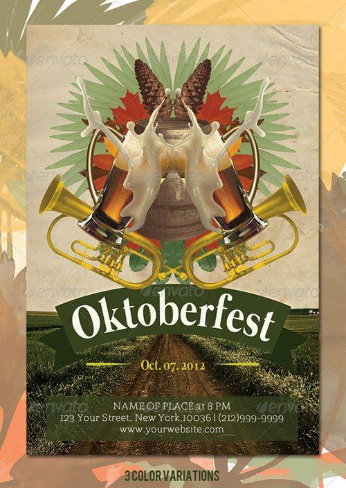 october fest oktoberfest promotion beer fest flyer poster template free club party psd flyer templates - free premium psd flyer templates to download