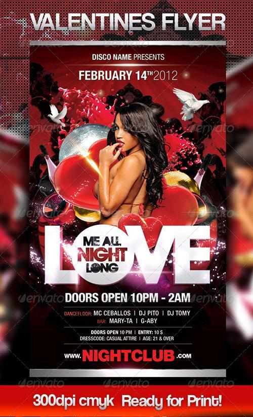 valentines day club party psd flyer templates - free premium psd flyer templates to download