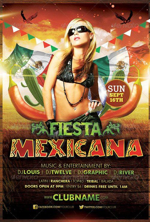 cinco de mayo mexican spanish party flyer poster template free club party psd flyer templates - free premium psd flyer templates to download
