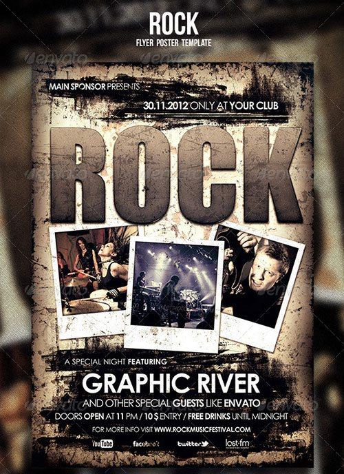 hard rock flyer indie rock template poster  free club party psd flyer templates - free premium psd flyer templates to download