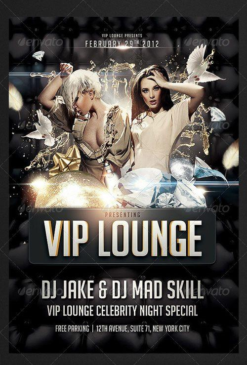 Vip Card Vip Party Entry Flyer Poster Template Free Club Party Psd Flyer  Templates   Free