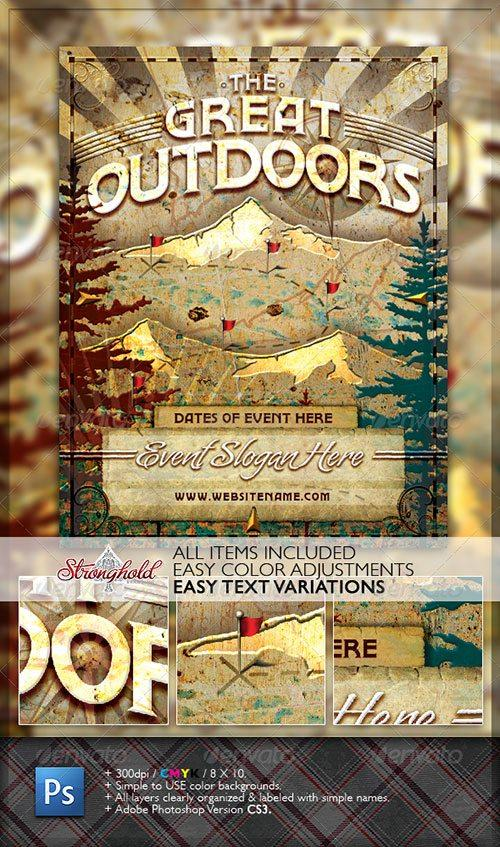 top 10 best nature psd flyer templates