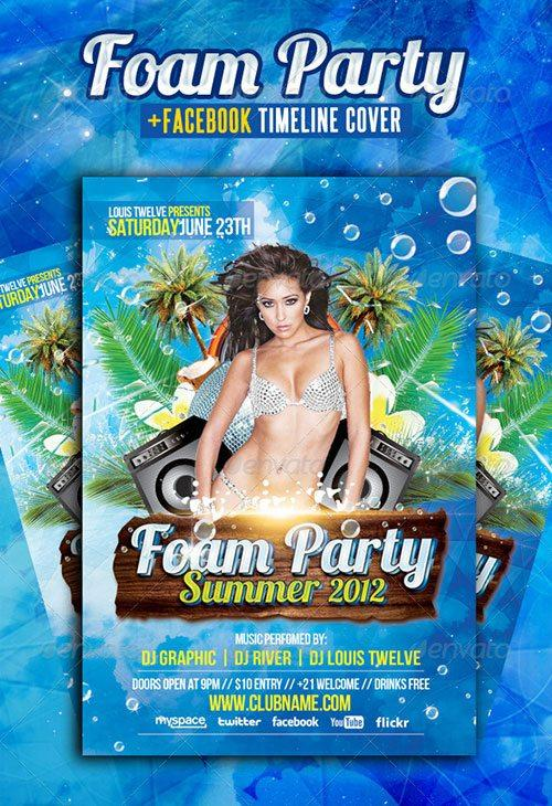 foam party flyer free club party psd flyer templates - free premium psd flyer templates to download