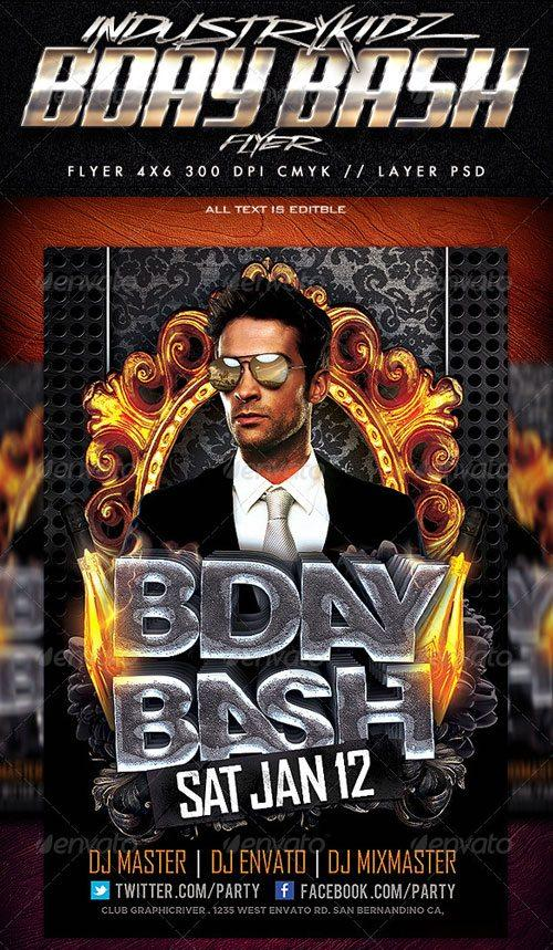 Birthday Bash Flyer Templates