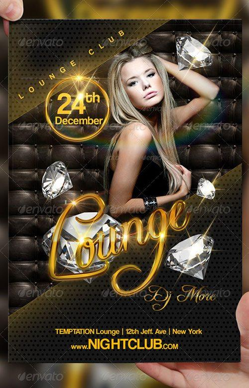 Lounge Chill Area Flyer Poster Template Free Club Party Psd Flyer Templates    Free Premium Psd