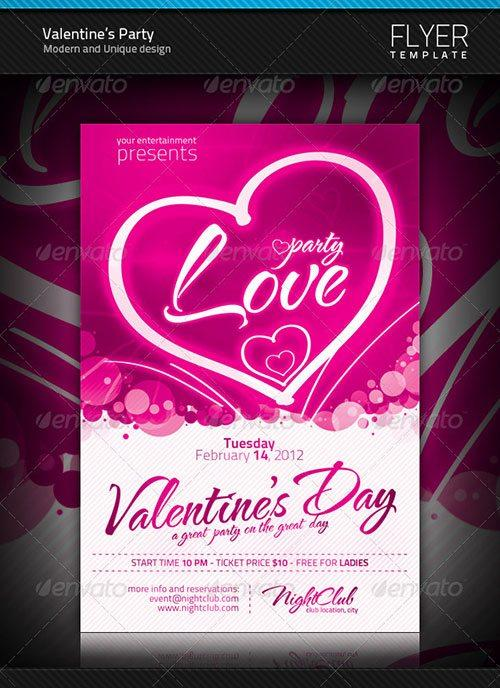 top 10 best valentines day psd flyer templates club party psd template. Black Bedroom Furniture Sets. Home Design Ideas