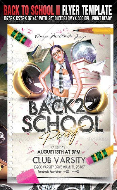 school party back to school graduation prom flyer poster template free club party psd flyer templates - free premium psd flyer templates to download