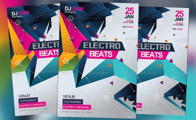 Featured Flyer: Electro Beats Party Flyer Template