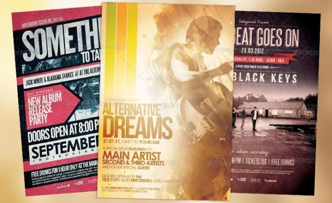 Top 10 Best Alternative Rock PSD Flyer Templates