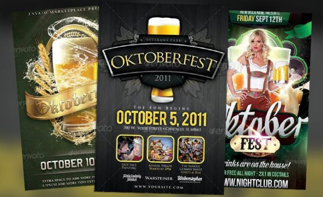 Top 10 Best Beer Fest PSD Flyer Templates
