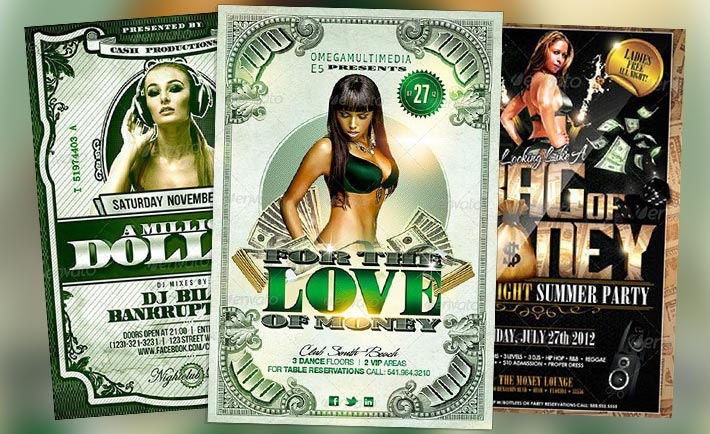 top 10 best cash money psd flyer templates