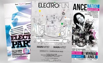 Top 10 Best Electro Party PSD Flyer Templates