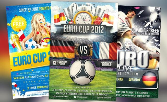 Top 10 Best Euro Soccer PSD Flyer Templates