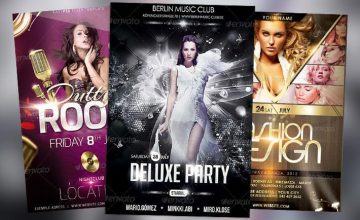 Top 10 Best Glamorous PSD Flyer Templates