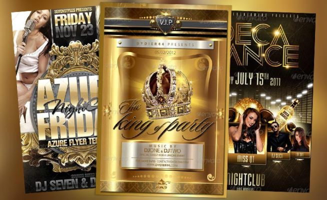 Top 10 Best Gold PSD Flyer Templates