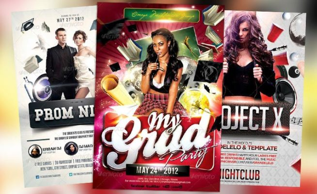 Top 10 Best Graduation Prom PSD Flyer Templates