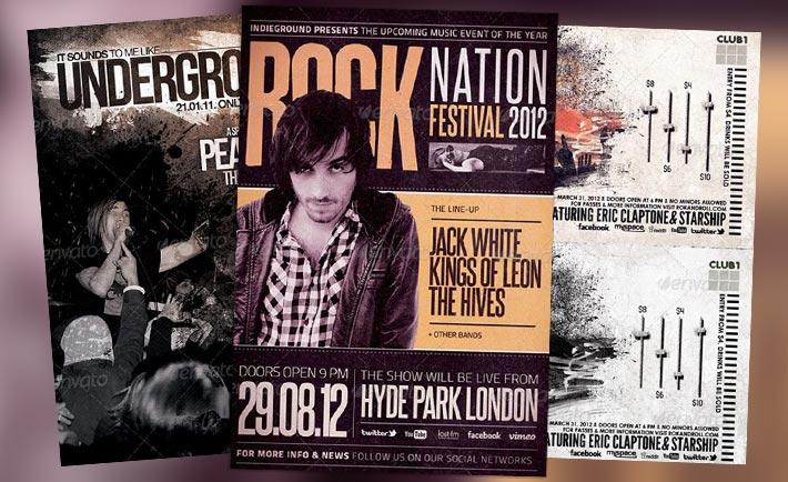 Top 10 Best Hard Rock PSD Flyer Templates
