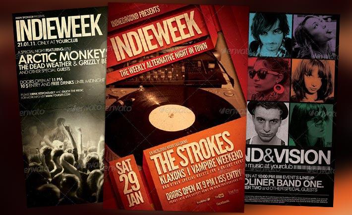 Top 10 Best Indie Rock PSD Flyer Templates