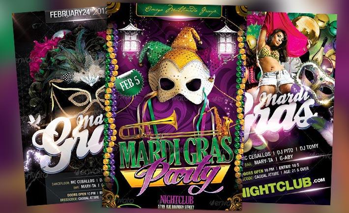Top 10 Best Mardi Gras PSD Flyer Templates