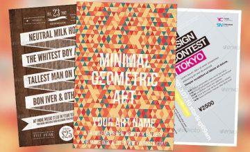 Top 10 Best Minimalistic PSD Flyer Templates