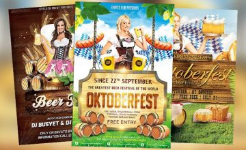 Top 10 Best Octoberfest PSD Flyer Templates