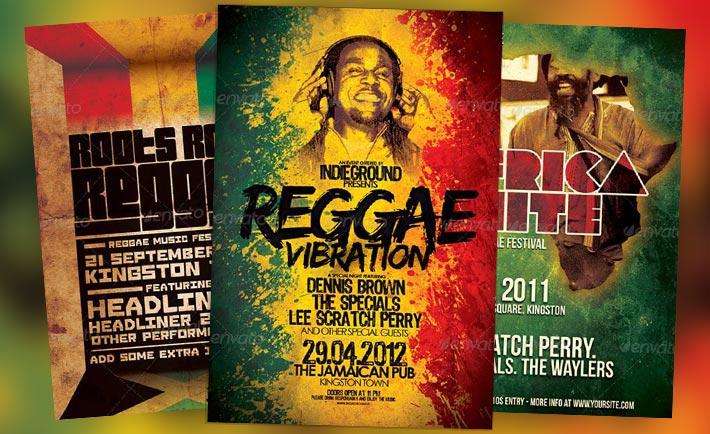 Top 10 Best Reggae Dancehall PSD Flyer Templates for Photoshop