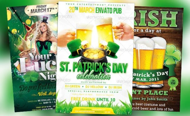 Top 10 Best St. Patricks Day PSD Flyer Templates