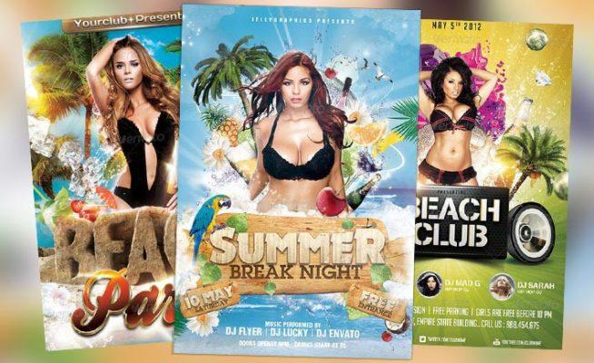 Top 10 Best Summer Beach PSD Flyer Templates