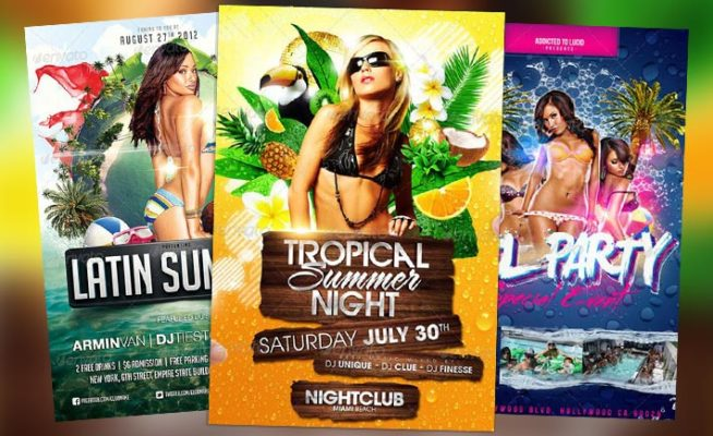 Top 10 Best Summer PSD Flyer Templates