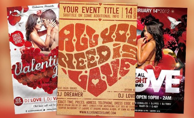 Top 10 Best Valentines Day PSD Flyer Templates