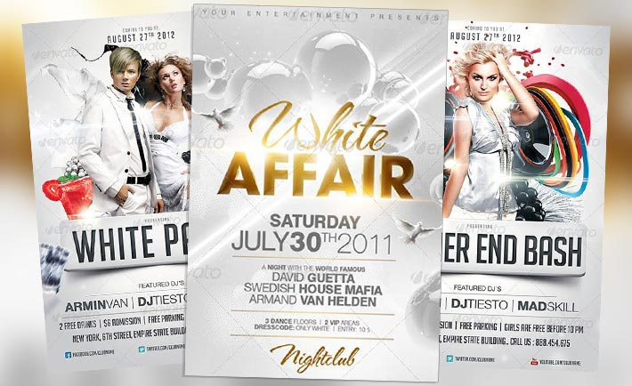 Top 10 Best White PSD Flyer Templates