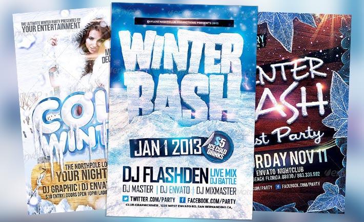 Top 10 Best Winter Ice PSD Flyer Templates