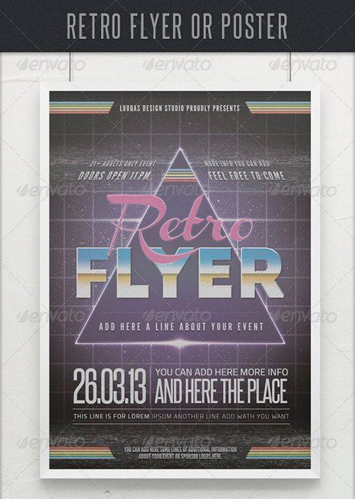 retro atari gaming weekly top featured psd party club flyer template to download