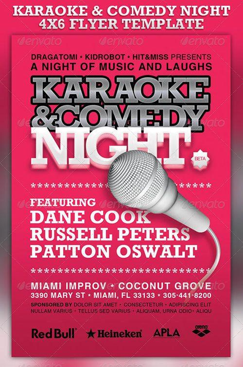 karaoke party flyer poster template free club party psd flyer templates - free premium psd flyer templates to download